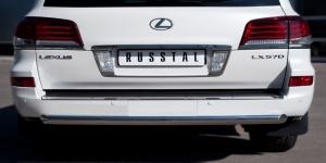 Lexus LX 570 2012 Защита заднего бампера d76 (дуга) LLXZ-000867